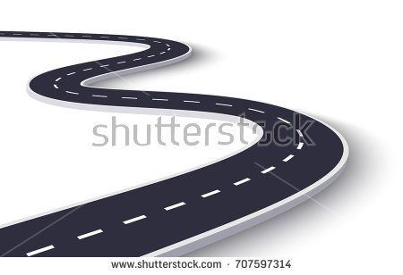 3d Winding Road On A White Isolated Background Road Way Location Infographic Template Vector Eps 10 Winding Road Vector Royalty Free Stock Photos
