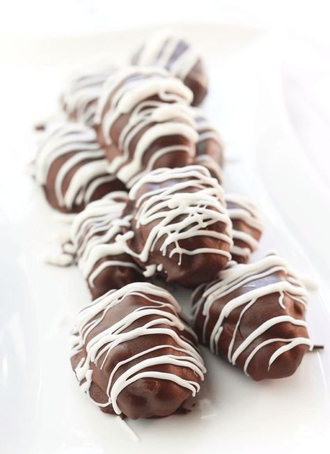Chocolate Covered Nut Butter Stuffed Dates Recipe Vegan Candies Chocolate Covered Nut Butter