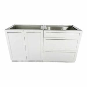 4 Life Outdoor Stainless Steel 3 Drawer 32x35x22 5 In Outdoor Kitchen Cabinet Base With Powder Coated Drawers In Gray G40003 Outdoor Kitchen Cabinets Outdoor Kitchen Design Layout Outdoor Kitchen Design