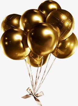 Gold Balloon Balloon Clipart Golden Balloon Png Transparent