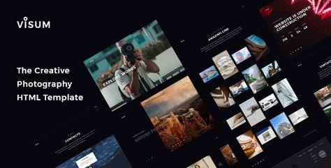 Visum — Creative AJAX Photography Template | Stylelib