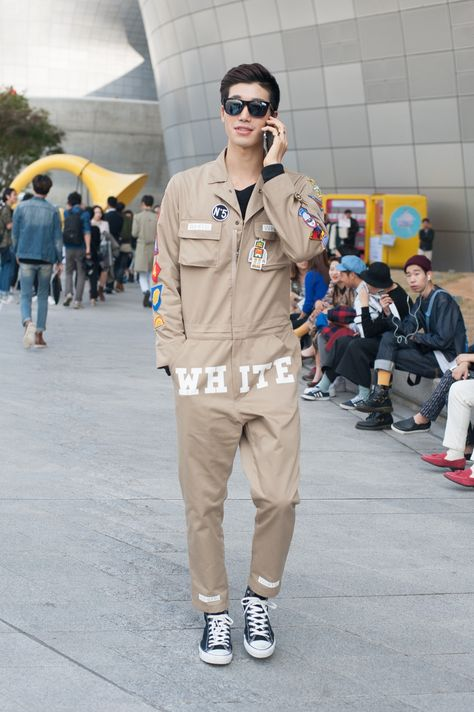 wgsn:  Amazing jumpsuit decorated with badges and typography stands out from the mass.