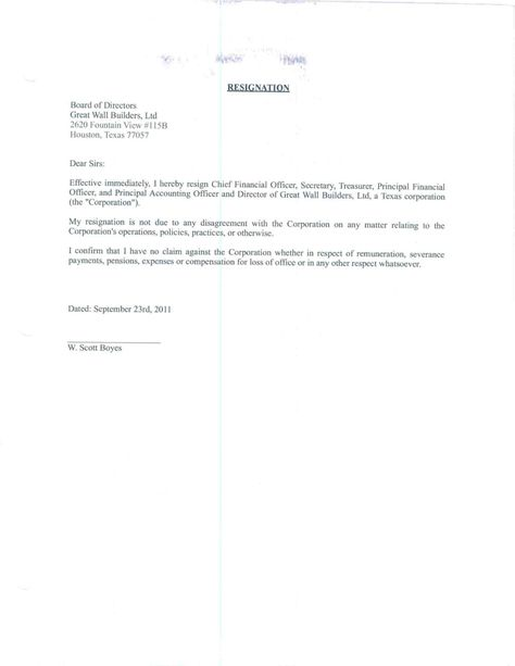 professional resignation letter samples home claim sample doc - 2 week resignation letter