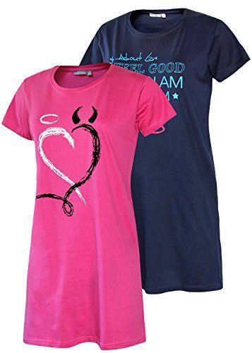 brand new 0cc5b a6630 Damen Nachthemd Schlafhemd Kurzarm Kurzes Sleepshirt Pyjama ...