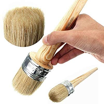 Ultnice Cepillo De Pintura De Tiza Cera Para Pintar O Encerar Muebles Plantillas Folkart Decoracion Para El Hogar Cep Wax Brushes Wax Painting Chalk Paint Wax