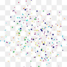 paper confetti party cartoon