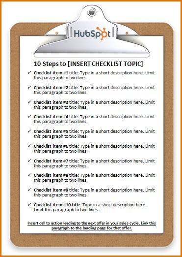 microsoft word template checklist