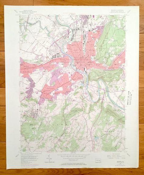 Reading pennsylvania map