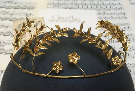 Boho Headpiece Golden Wedding Crown Bridal Tiara Flower