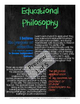 Educational Philosophy Poster Philosophy Of Education Teaching Philosophy Statement Philosophy