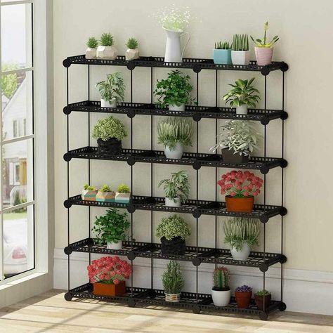 Portable Plant Stands Custom Shaped Succulents Pot Shelf Standing