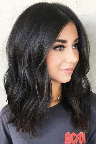 How To Style A Lob The Easy Way In 2020 Hair Color For Black Hair Hair Color Chart Trendy Hair Color