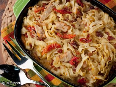 Chicken Fettuccine Casserole: This comfy take on a traditional Italian dish is so delightful we love serving it for lunch or dinner. Everything is just better as a casserole!
