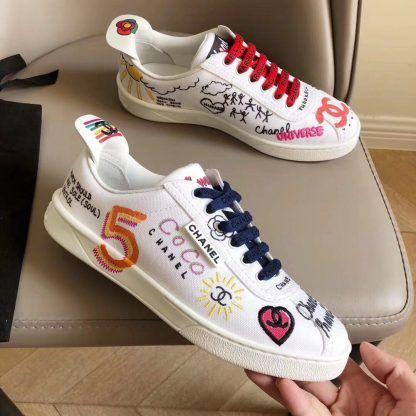 chanel pharrell shoes white