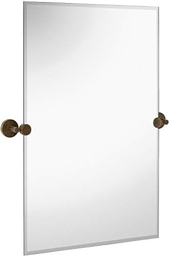 Hamilton Hills Large Pivot Mirror With Polished Chrome Wall