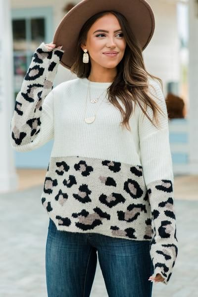You've Got The Look Off White Leopard Sweater in 2020