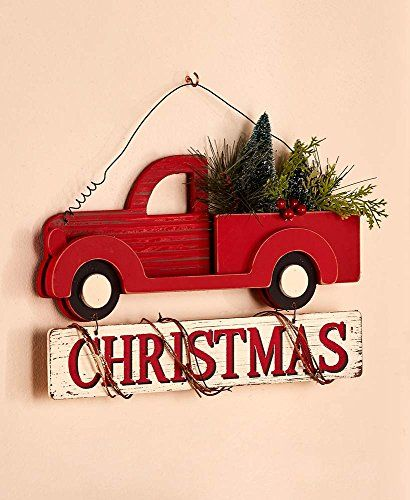 Cool Top 10 Best Christmas Wall Décor Top Reviews Classic Holiday Decor Christmas Red Truck Christmas Wall Decor