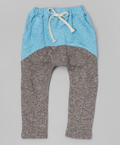 Leighton Alexander Dark Gray & Blue Harem Pants - Infant, Toddler & Kids   zulily