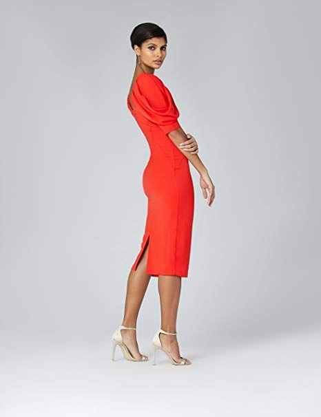 TRUTH & FABLE Damen Kleid mit Puffärmeln: