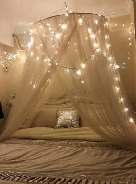 Best Bedroom Design Tumblr Canopies Ideas Romantic Bedroom Lighting Bed Lights Bed Canopy With Lights