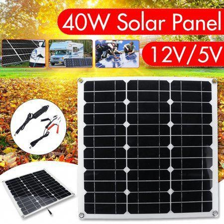15 20 25 30 40w Solar Panel 12v 5v Flexible Semi Portable Polysilicon Monocrystalline Silicon Off Grid Kit In 2020 Solar Panels Solar Power Panels Solar Energy Panels