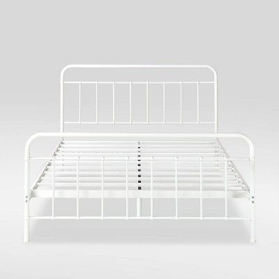 Queen Florence Metal Platform Bed Frame White Zinus In 2019