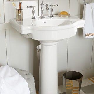 Bathroom Sinks Retrospect 27 Inch Pedestal Sink White