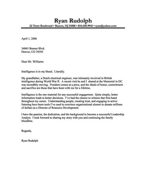 Financial Analyst Cover Letter Financial Analyst Cover ...