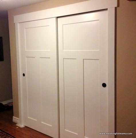 Closet door makeover--Meaningful Mama: Day #349 - DIY