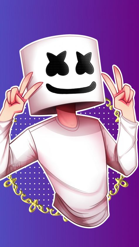 720x1280 Marshmello, music production, DJ, minimalism, artwork wallpaper