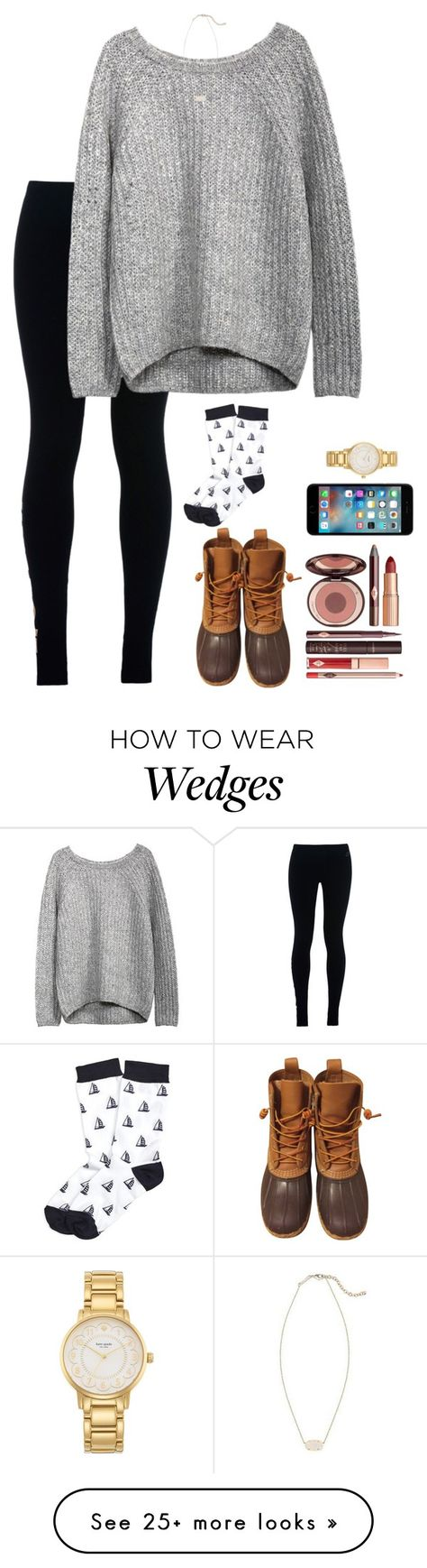 """""""Read d again! """" by hannahcantrel on Polyvore featuring NIKE, L.L.Bean, Kendra Scott, Brooks Brothers, Charlotte Tilbury and Kate Spade"""