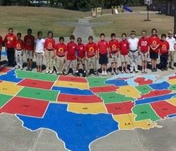 Us map stencil for playground