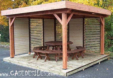 Gloriettes Gloriette Bois Kiosque Jardin Meuble Jardin