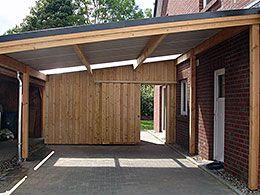 Carport An Einem Doppelhaus Carport Carport Holz Carport Bauen