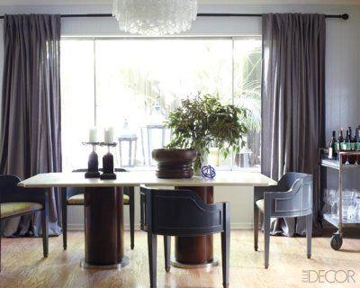 Georgia Tapert Howe created this sleek dining room.