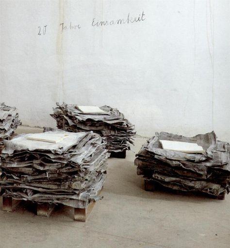 Lead books by artist Anselm Kiefer.