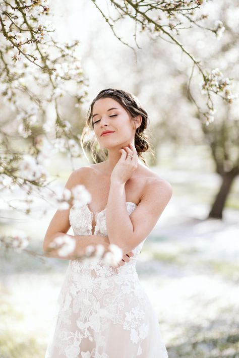 Whimsical Almond Orchard Blossom Wedding Inspiration – Playful Soul Photography 25  Blossoming orchards are the perfect backdrop for a nature-filled outdoor celebration.  #bridalmusings #bmloves #wedding #weddinginspo #weddinginspiration #blossom #orchard #outdoorwedding