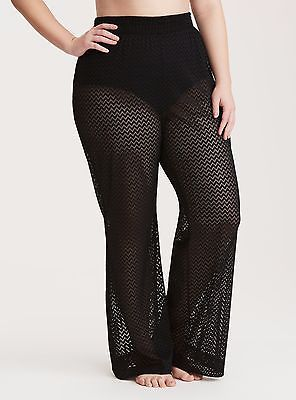 37a53b1272 Torrid Crochet Swim Cover Up Pants Black 2X 18 20 2 #38355 | SWIMMY ...