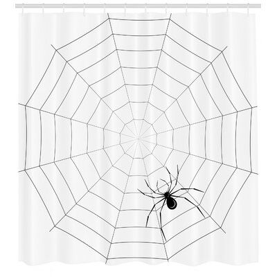 East Urban Home Ambesonne Spider Web Shower Curtain Toxic