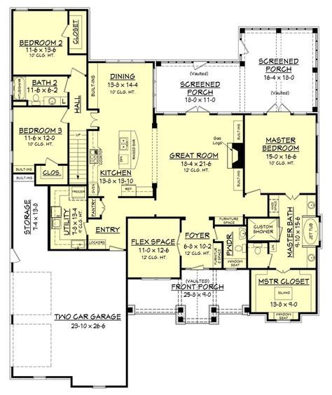 Rustic 3 Bedroom Country House Plan Craftsman 2597 Sq Ft Craftsman Style House Plans Keystone Homes Craftsman House Plans