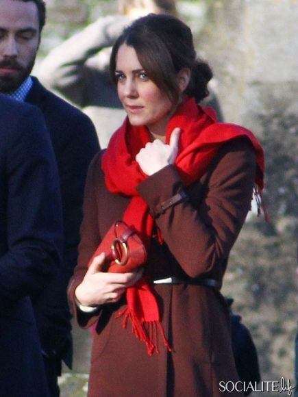 kate 2nd christmas at sandringham following her pregnancy morning sickness of recent weeks-2012.