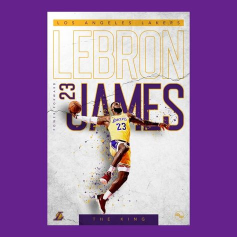 Working for a sports company means creating Sports Graphic posters. .  #lebronjames #nba #basketball #lakers #lebron #kingjames #nike #ballislife #sports #dunk #follow#losangeleslakers #striveforgreatness #lakersnation #nbaplayoffs #losangeles #nbafinals #nbabasketball #graphicdesign #adobe #photoshop#typography #sportsgraphics #espn . . . Would love some feedback!