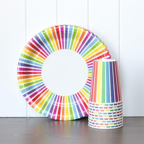 Tableware Set - Rainbow Stripes