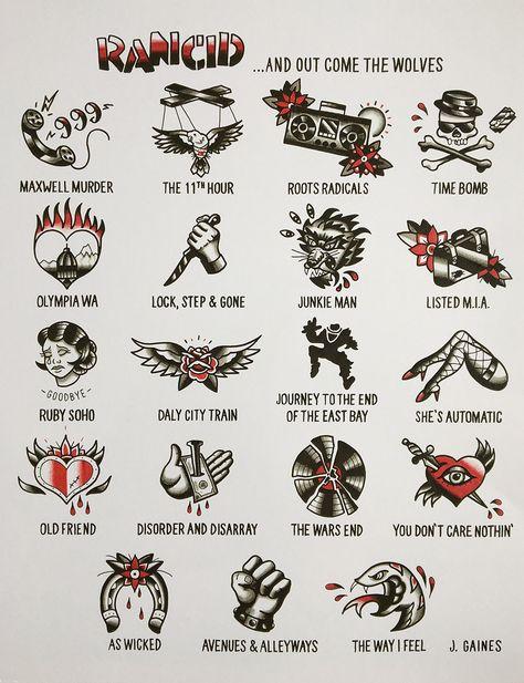 Rancid Tattoo Flash Poster | Etsy