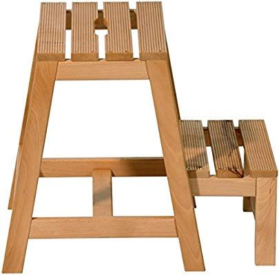 Dobar 29730fsc Stabiler Klapphocker Aus Fsc Holz 2 Stufen