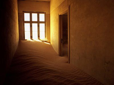 Kolmanskop, a ghost town in Namibia, built during the diamond boom, abandoned by the 1950s