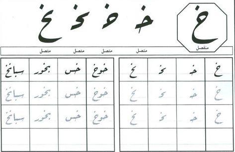 خ حرف الخاء بجميع اشكاله حروف اللغة العربية Words Word Search Puzzle