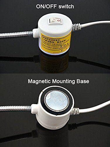Bonlux Led Sewing Machine Light Working Gooseneck Lamp 30 Leds With Magnetic Mounting Base For Home Or Sewing Machine 30 Leds A Gooseneck Magnets Mounting
