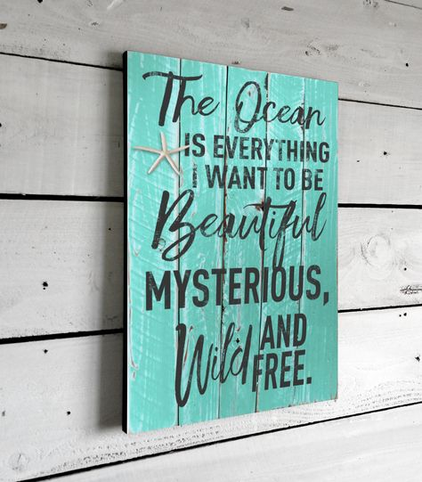 Beach Decor & Nautical Quote Signs This beautifully printed beach