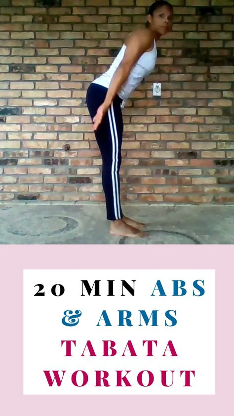 20 Minute Abs & Arms Tabata Workout